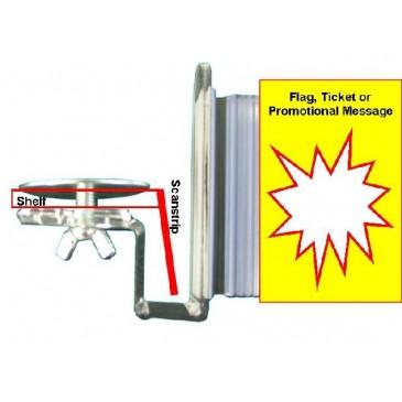 acrylic flag arm with flexible gripper