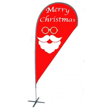 TEARDROP FLAG - CHRISTMAS SANTA