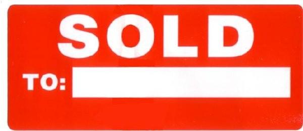 sold to sticker