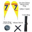 TEARDROP FLAG KIT - OPEN 7 DAYS