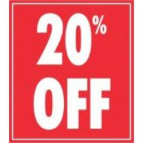 STICKER 20% OFF RED (250)