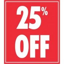 STICKER 25% OFF RED (250)