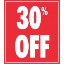 STICKER 30% OFF RED (250)