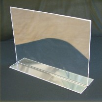 A4 Double Sided Landscape Menu Holder