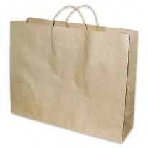 Large Wide Brown Paper Carry Bag