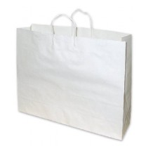 Large Wide White Paper Carry Bag