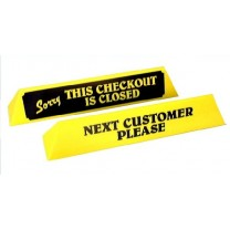 Yellow Printed Checkout Divider
