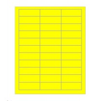 Computer Data Ticket 70 x 25mm Yellow