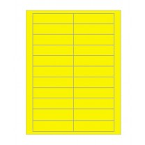 Computer Data Tickets 90 x 25 Yellow