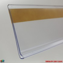 FLAT DATASTRIP 26 x 1200mm CLEAR