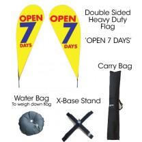 TEARDROP FLAG KIT - OPEN 7 DAYS