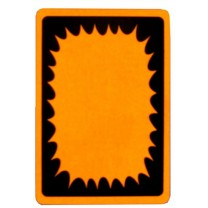 Starburst Fluoro Orange Sticker
