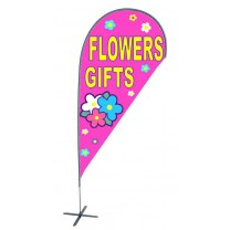 TEARDROP FLAG - FLOWERS GIFTS