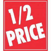 STICKER 1/2 PRICE RED (250)