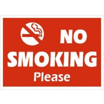 A4 Sign  No Smoking Please