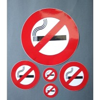 NO SMOKING STICKER SET