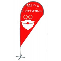 TEARDROP FLAG - CHRISTMAS SANTA