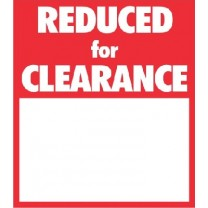 STICKER REDUCED FOR CLEARANCE RED (250)