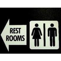 Rest Room Sign - Double Sided