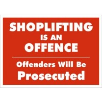 A4 Sign - Shoplifting is an Offence