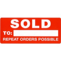 Sold: Repeat orders Possible Sticker