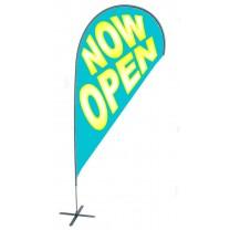 TEARDROP FLAG - NOW OPEN