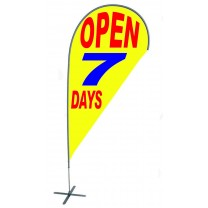 TEARDROP FLAG - OPEN 7 DAYS