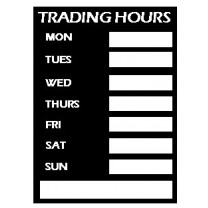 Trading Hours Sign