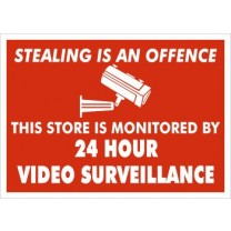 A4 SIGN - 24 HOUR VIDEO SURVEILLANCE
