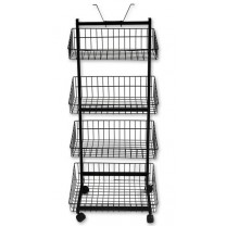 Four Basket Stand - Black