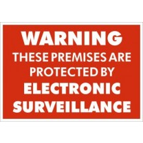 A5 SIGN - WARNING ELECTRONIC SURVEILLANCE