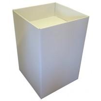 Cardboard Dump Bin - White